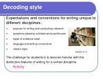 decoding style