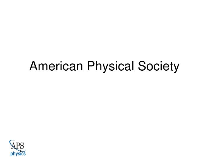 american physical society n.
