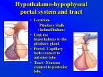 hypothalamo hypophyseal portal system and tract