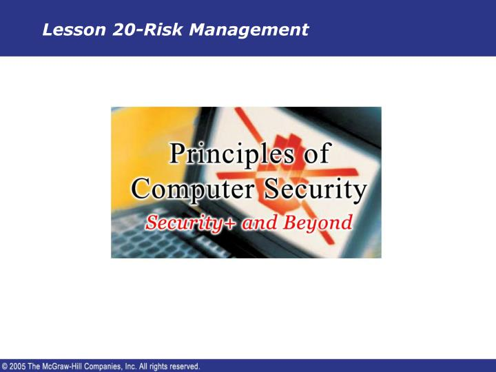 lesson 20 risk management n.