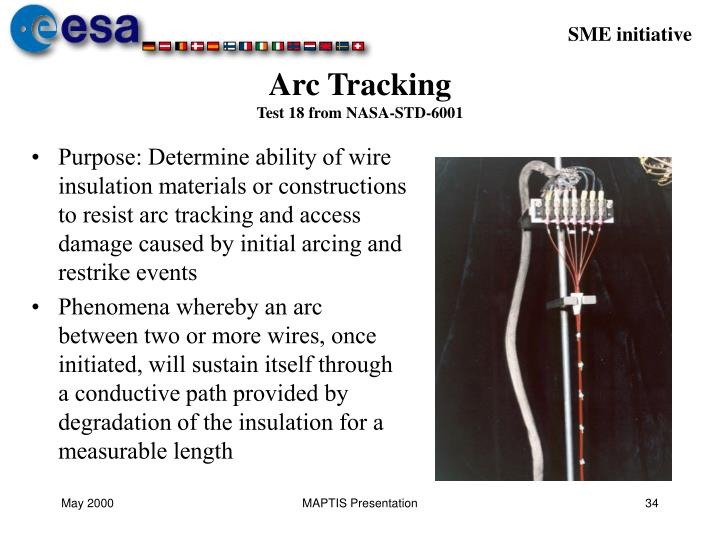 arc tracking test 18 from nasa std 6001