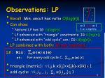 observations lp