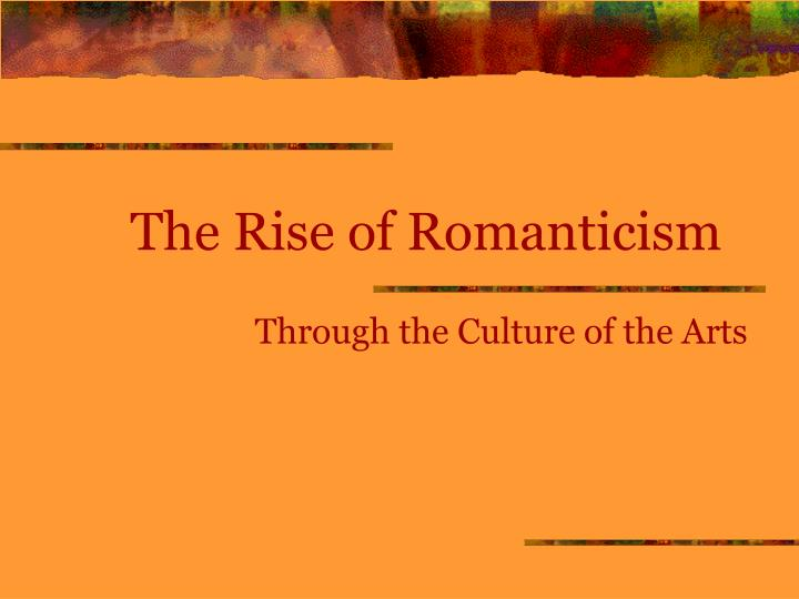 the rise of romanticism n.