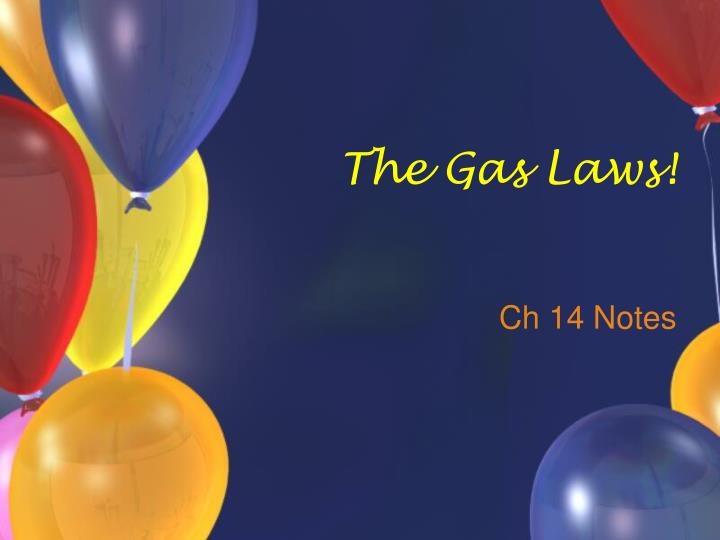the gas laws n.