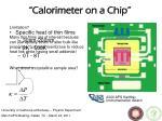calorimeter on a chip
