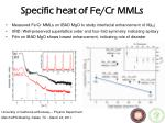 specific heat of fe cr mmls
