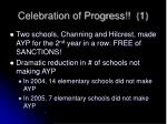 celebration of progress 1