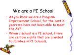 we are a pi school