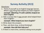 survey activity 13