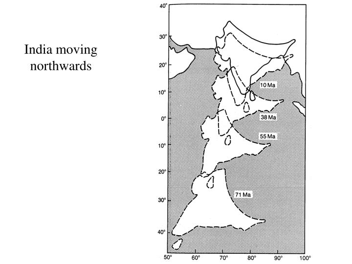 India moving northwards
