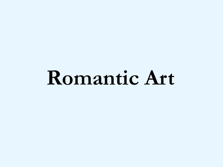romantic art n.