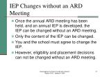 iep changes without an ard meeting