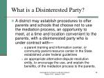 what is a disinterested party