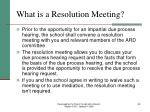 what is a resolution meeting