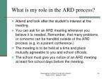what is my role in the ard process