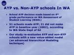 ayp vs non ayp schools in wa
