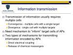 information transmission1