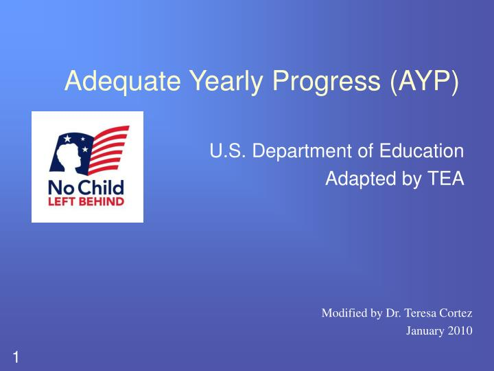 adequate yearly progress ayp n.