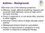 asthma background