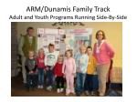 arm dunamis family track adult and youth programs running side by side2