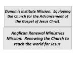 dunamis institute mission equipping the church for the advancement of the gospel of jesus christ
