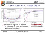 optimal solution curved etalon