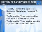 history of sarc process ce01 cont