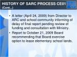 history of sarc process ce01 cont1