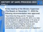history of sarc process ce01 cont2