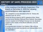 history of sarc process ce01 cont3