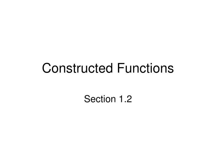 constructed functions n.
