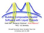 building composable parallel software with liquid threads