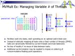 mvmult ex managing variable of threads