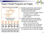 today s parallel programs are fragile