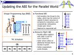 updating the abi for the parallel world