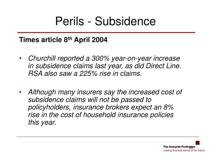 Perils - Subsidence