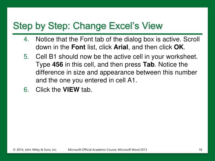 Step by Step: Change Excel's View