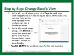 step by step change excel s view2