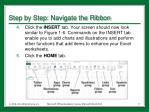 step by step navigate the ribbon1
