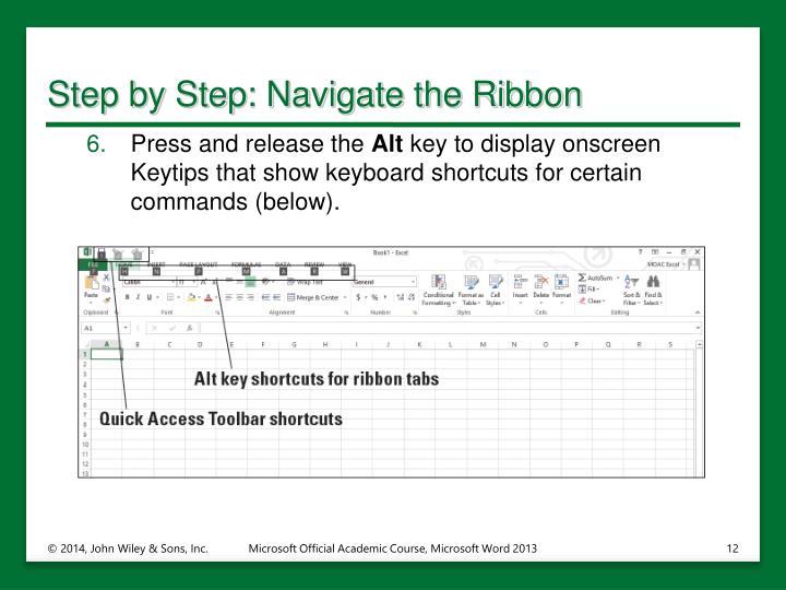 Step by Step: Navigate the Ribbon
