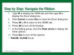 step by step navigate the ribbon3