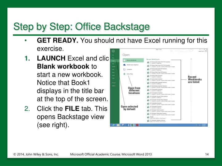 Step by Step: Office Backstage
