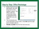 step by step office backstage1