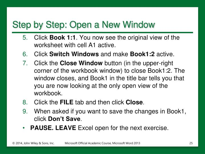 Step by Step: Open a New Window