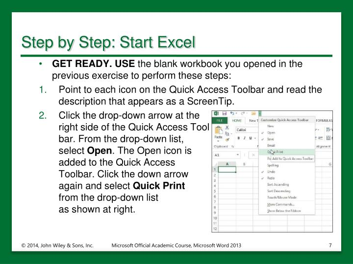 Step by Step: Start Excel