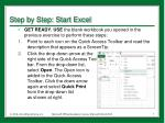 step by step start excel2
