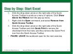 step by step start excel4