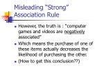 misleading strong association rule1