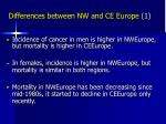 differences between nw and ce europe 1