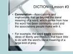 diction lesson 3